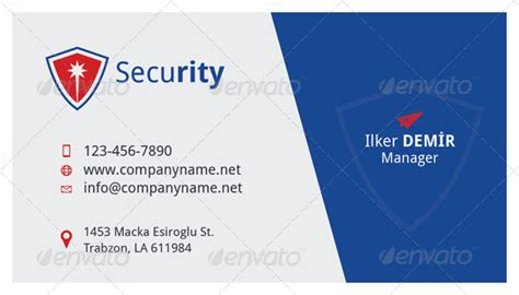 Security Business Cards Templates by Security Business Card Template By Grafilker Graphicriver