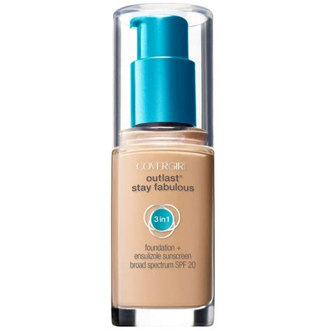 Covergirl Outlast Foundation covergirl outlast stay fabulous 3 in 1 foundation reviews