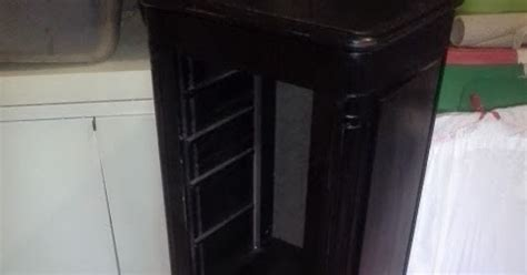vintage decoart chalky paint jewelry armoire makeover fern