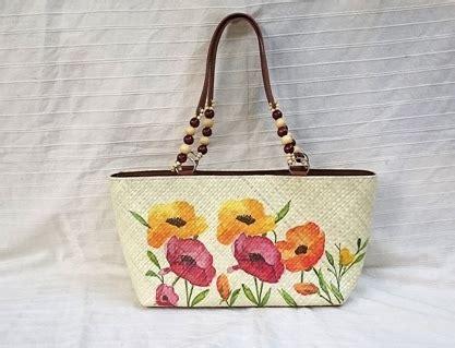 Tas Pandan 29 tutorial decoupage tas pandan bunga bunga indah bahan perekat