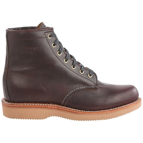 chippewa plain toe lace up boots for save 76