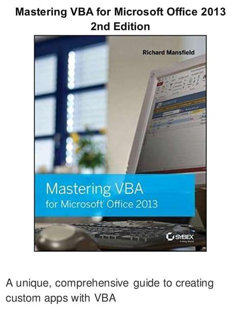 Cd Master Microsoft Office 2007 mastering vba for microsoft office 2007 pdf