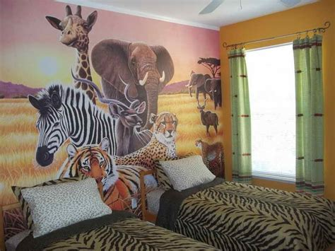wallpaper for home interiors wallpapersafari safari bedroom decor ideas homesfeed