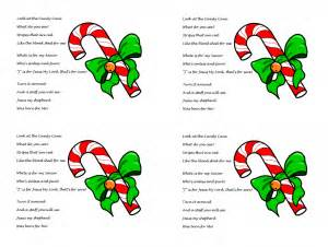 Candy cane poem about jesus