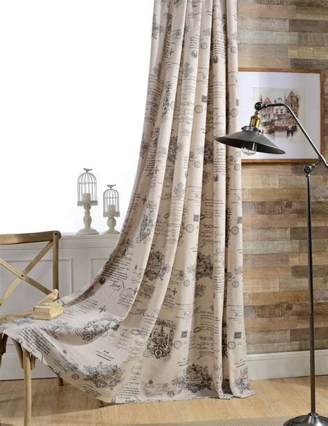 drapes english decorative room divider living room kitchen beige vintage