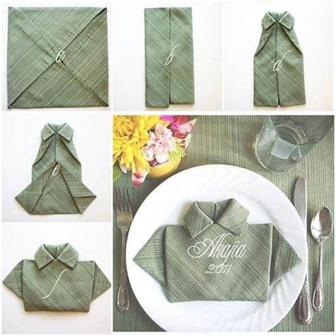 creative polo shirt napkin creative napkin folding and
