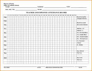 Yearly attendance record template calendar template gallery