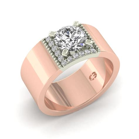 wide band engagement ring designs
