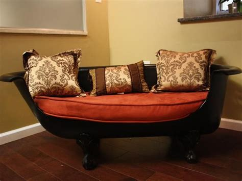 bathtub couch upcycled claw foot tub sofa