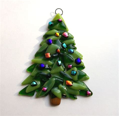 fused glass christmas ornament christmas tree