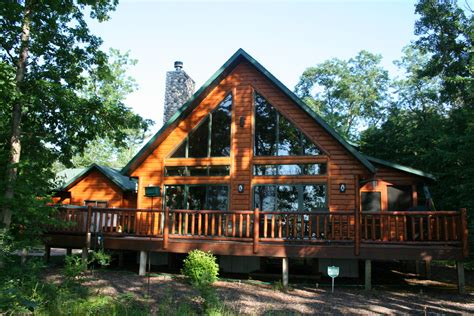 below sling log homes currently sale lake petenwell
