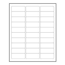 printer label template 3000 blank 1 quot x 2 5 8 quot return address labels inkjet