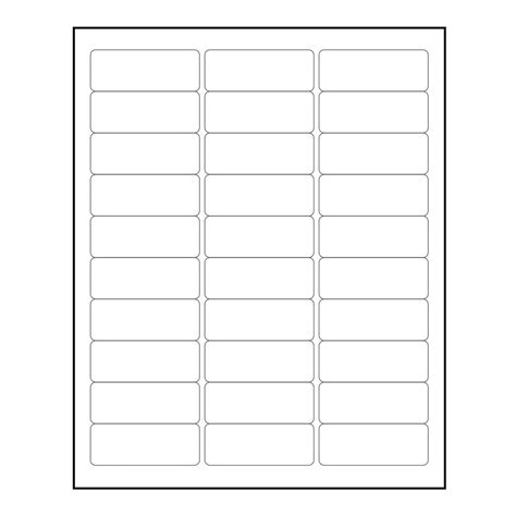 avery address label template 5160 3000 blank 1 quot x 2 5 8 quot return address labels inkjet