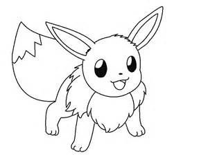 Pokemon Eevee Coloring Pages Kids Day sketch template
