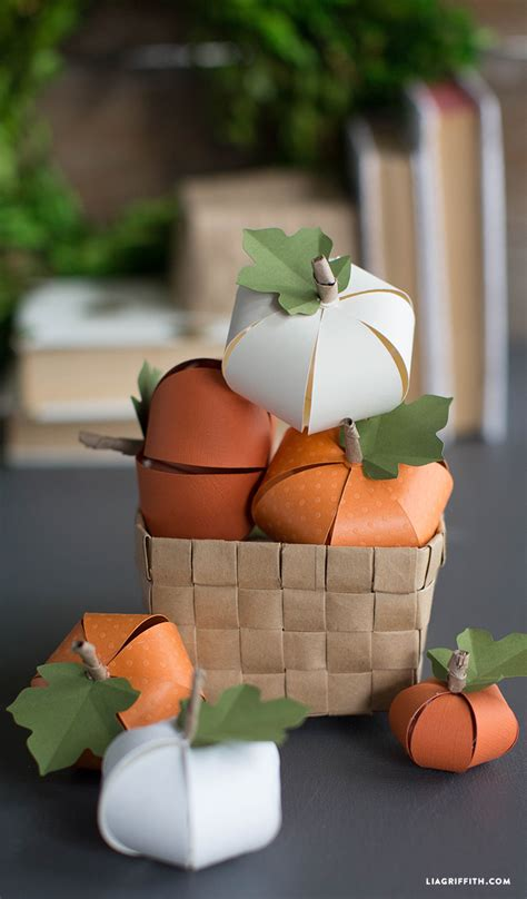 Paper Pumpkins - fall decor diy pumpkin tutorials the 36th avenue
