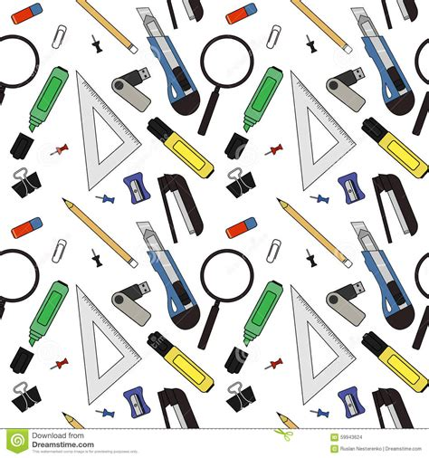 color pattern tool stationery tools pattern color stock vector