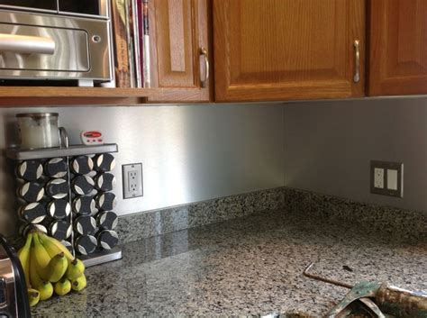 Easy Kitchen Backsplash Ideas Inexpensive Kitchen Backsplash Used Material From A Signage Store