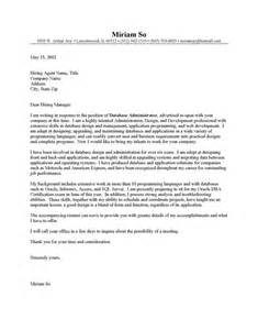 Administrator Cover Letter by Useful Tips For Cover Letter Database Administrator Exle Sle Cover Letters