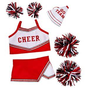 Red cheerleading uniform 5 pc build a bear