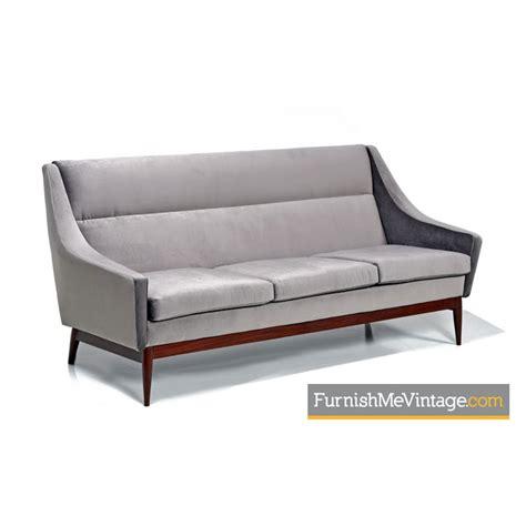 gray mid century sofa mid century modern gray sofa