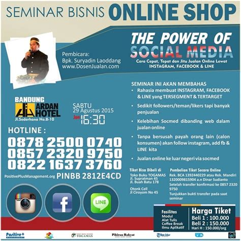 seminar bisnis  shop