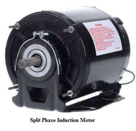 split phase induction motor types of single phase induction motors