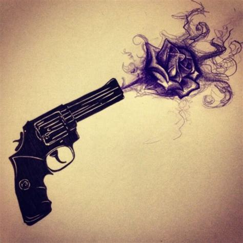 guns and roses thigh tattoo 25 best ideas about gun tattoos on pistol gun