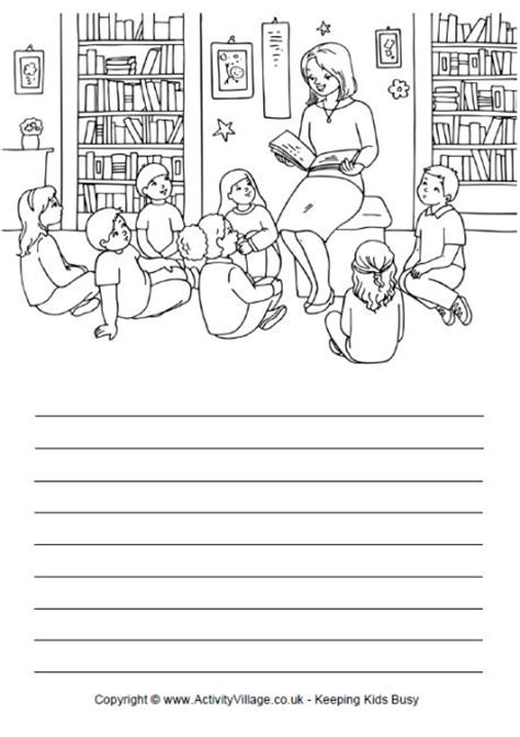 activity village printable writing paper story time story paper