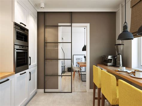 Living Room To Kitchen Door Going Scandinavian In Style Space Savvy Apartment In Moscow