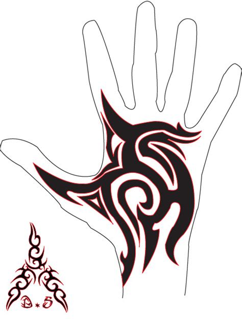 tribal hand tattoo by bfmv01 on deviantart