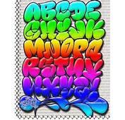 Graffiti Rainbow Bubble Letters Alphabet