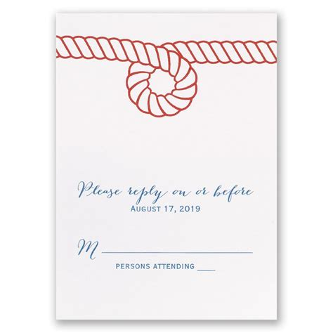 nautical style nautical style response card invitations by