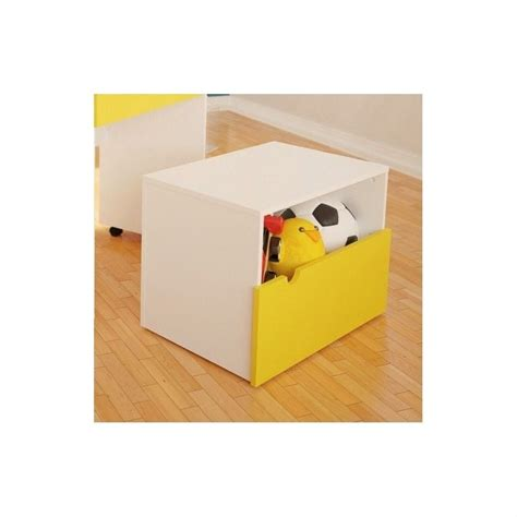 yellow storage bench mobile storage bench in white and yellow 332038
