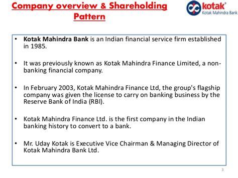 kotak mahindra bank ltd equity research report of kotak mahindra bank