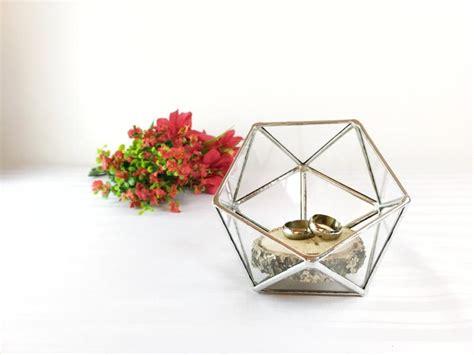 Wedding Ring Box Holder by Wedding Ring Holder Ring Bearer Box Glass Ring Pillow