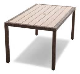 Patio Tables Strathwood Griffen All Weather Wicker And Resin Dining Table Brown Patio