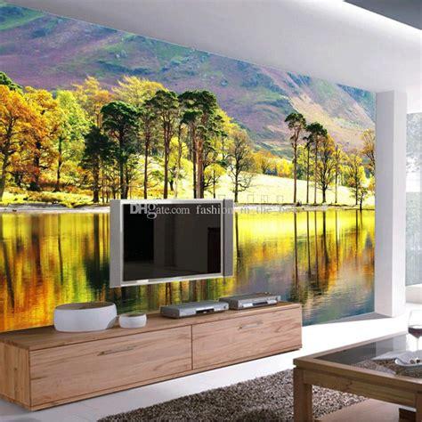 forest river photo wallpaper  trees wallpaper custom
