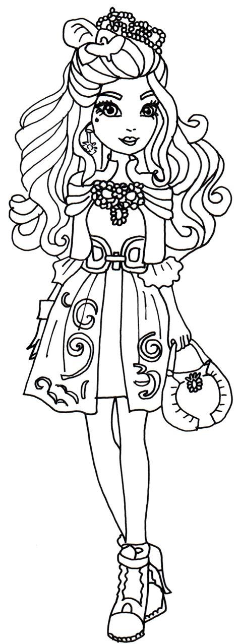 ever after high coloring pages dexter charming desenho de darling charming com bonito vestido para