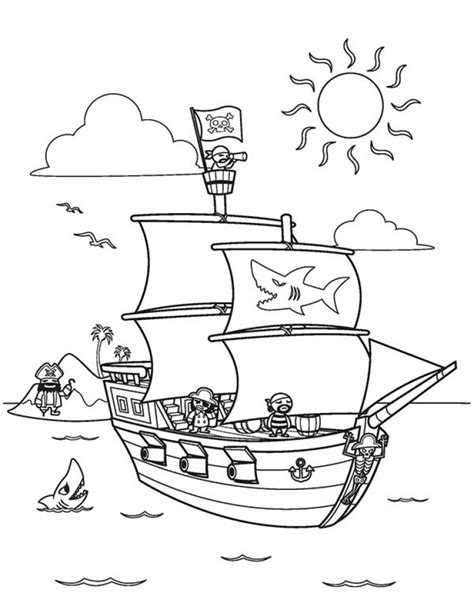 Pirate Ship Coloring Page by Get This Pirate Ship Coloring Pages 6a731