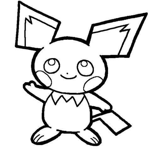 pokemon coloring pages pichu pichu lineart by yumezaka on deviantart