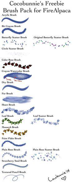 pattern brush medibang brush settings by cheapkrabs medibang pinterest