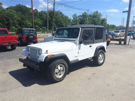 jeep top white 94 white jeep wrangler clean southern jeep no rust