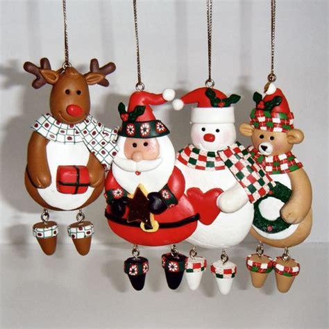 figures christmas tree ornaments handmade xmas