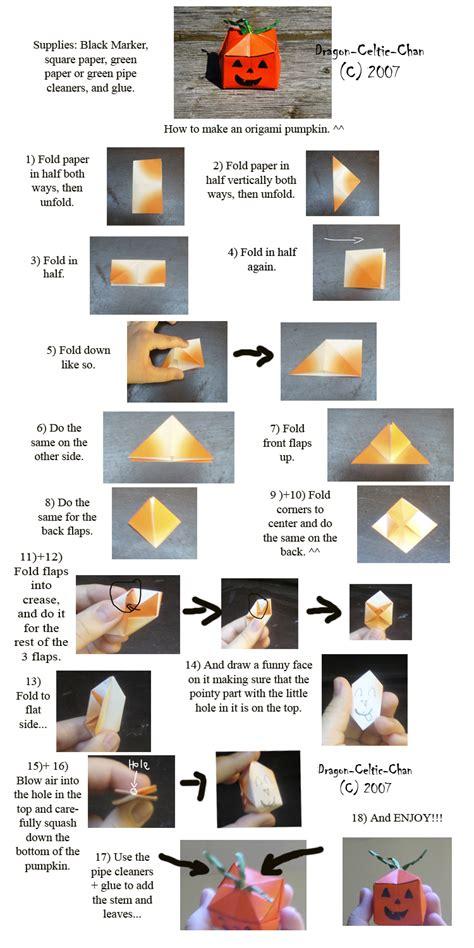 How To Make An Origami Pumpkin - origami pumpkin tutorial by celtic chan on deviantart