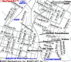 map of martinsburg wv other information