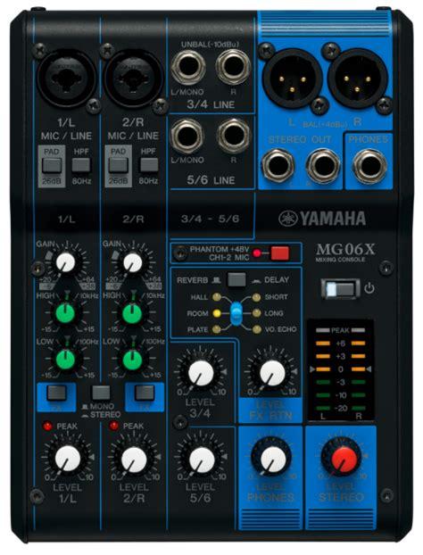 Yamaha Mixer Mg06x on review yamaha mg06x and mg16xu mixers insync