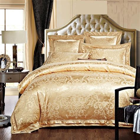 silk comforter king luxury jacquard silk bedding sets queen king size 4pcs