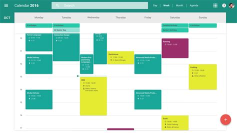 material design calendar js redesign of google s web calendar material design on behance
