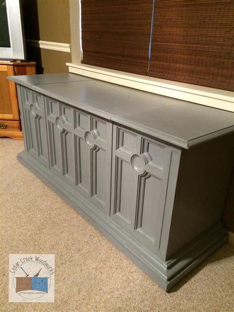 vintage stereo cabinet repurposed repurposed vintage console stereo cabinet into cedar chest