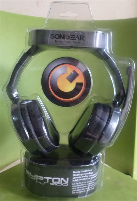 Sonicgear Hs900 Hs 900 Krypton Headset With Microphone Black Hitam headset sonicgear krypton hs900 nusa komputer